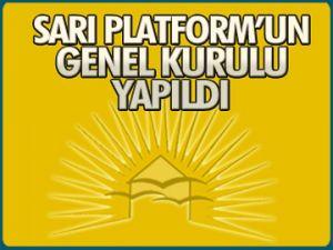 Sarı Platform genel kurulu yapıldı