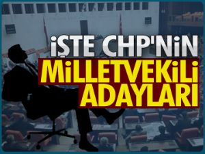 İşte CHP'nin vekil adayları