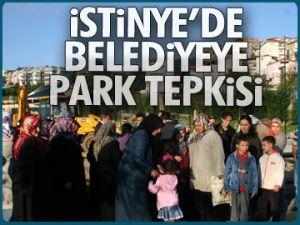 İstinye'de belediyeye park tepkisi