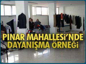 Pınar'da dayanışma örneği