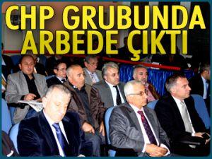 CHP grubunda arbede çıktı