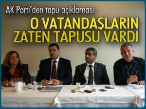 AK Parti'den tapu açıklaması