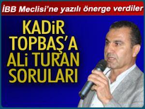 Topbaş'a Ali Turan soruları