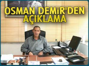 Osman Demir'den açıklama
