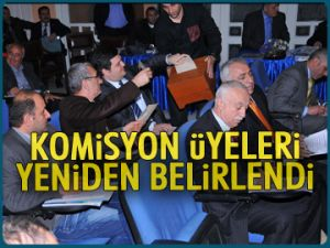 Komisyon üyeleri yeniden seçildi