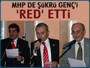 MHP de Şükrü Genç'i 'RED' etti