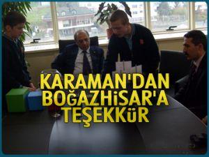 Karaman'dan Boğazhisar'a teşekkür