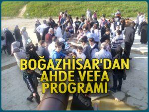 Boğazhisar'dan ahde vefa programı