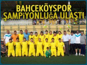 Bahçeköyspor şampiyonluğa ulaştı
