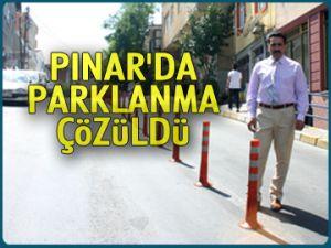 Pınar'da parklanma çözüldü