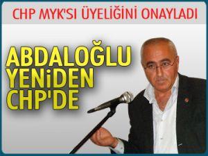 Abdaloğlu yeniden CHP'de