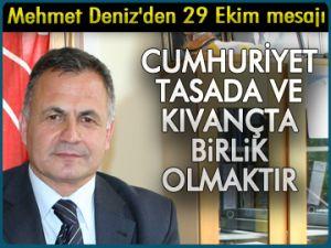 Mehmet Deniz'den 29 Ekim mesajı