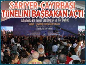 Sarıyer Tüneli'ni Başbakan açtı