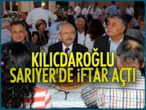 Kılıçdaroğlu, Sarıyer'de iftar açtı