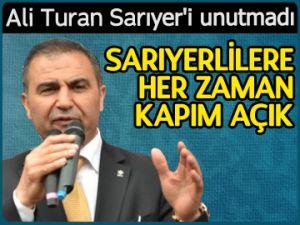Ali Turan Sarıyer'i unutmadı