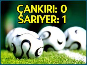 Çankırıspor: 0 - Sarıyer: 1