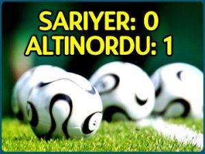Sarıyer 0-1 Altınordu