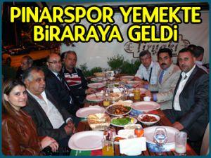 Pınarspor yemekte biraraya geldi