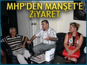 MHP'den Manşet'e ziyaret