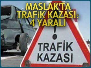Maslak'ta trafik kazası:4 yaralı