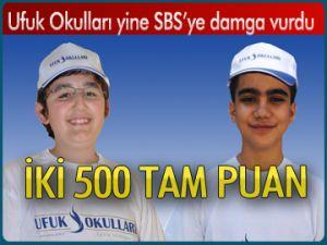 Ufuk Okulları'ndan SBS başarısı
