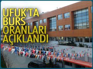Ufuk'ta burs oranları açıklandı