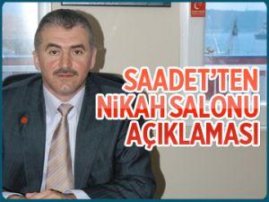 Saadet'ten nikâh salonu açıklaması