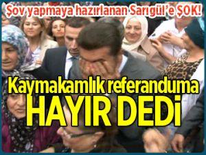 Referanduma izin çıkmadı