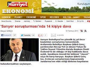 Türkiye, Sarıyer'deki rüşvet davasını konuşuyor