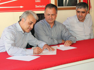 CHPliler Erol Aydını belediye başkanı gibi karşıladı
