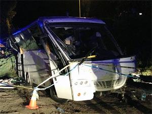 Zekeriyaköyde otobüs şarampole yuvarlandı: 5 ölü