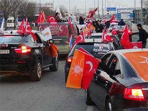 Milli İradeye Saygı konvoyu Sarıyer'e geliyor
