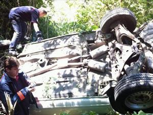 Motoru kilitlenen araç takla attı