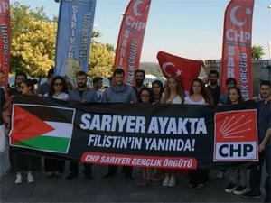 CHP'li gençler Filistin için yürüdü