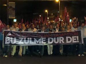 Sarıyerde Gazzeye destek yürüyüşü