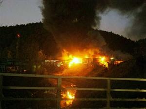 Hurdalık deposu alev alev yandı - VİDEO