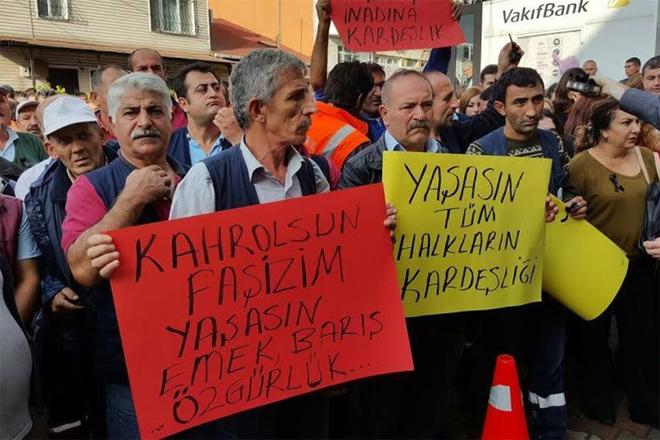 Ankara katliamı Sarıyer'de protesto edildi