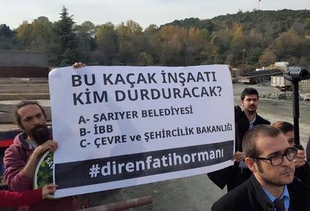 Maslak 1453 şantiyesinde protesto