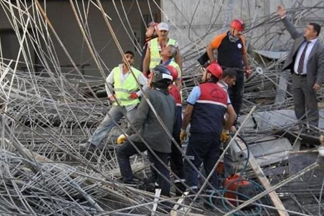 İskele halatı koptu: 1 işçi hayatını kaybetti