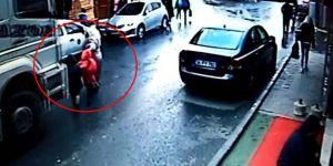 Kamyon şoförü tahliye edildi