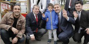 Selim Temurci, Sarıyer'deki 'Evet' çalışmalarına katıldı