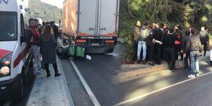 Sarıyer'de feci kaza! Motorlu kurye ezilerek can verdi!