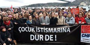 CHP'den Sarıyer'de 'Cocuk İstismarına Hayır' eylemi