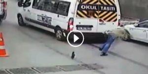 İstinye'de ölümden saliselerle kurtuldu! - VİDEO