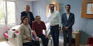 Başkan Genç'ten Seyit Torun'a geçmiş olsun ziyareti
