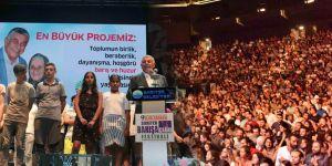 Sarıyer'de binlerce kişi 'barış' diye haykırdı