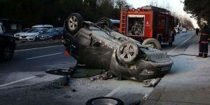 Sarıyer'de cip ambulansa çarptı