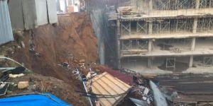Tahincioğlu Otel inşaatında çökme