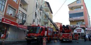 Sarıyer'de yangın nedeniyle mahsur kalanları itfaiye kurtardı