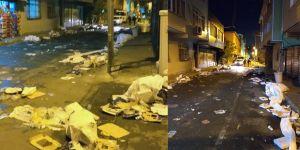 PTT Evleri'nde iftar veren AK Parti sokağı böyle bırakıp gitti